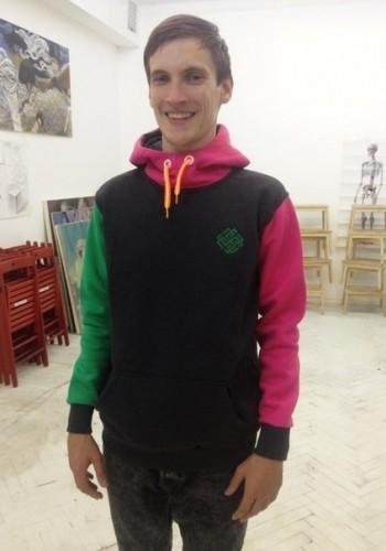 red-green hoodie
